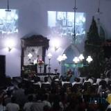Suasana perayaan natal di Gereja Kristen Jawi Wetan (GKJW) di Desa/Kecamatan Mojowarno, Kabupaten Jombang. (Foto : Adi Rosul / JombangTIMES)