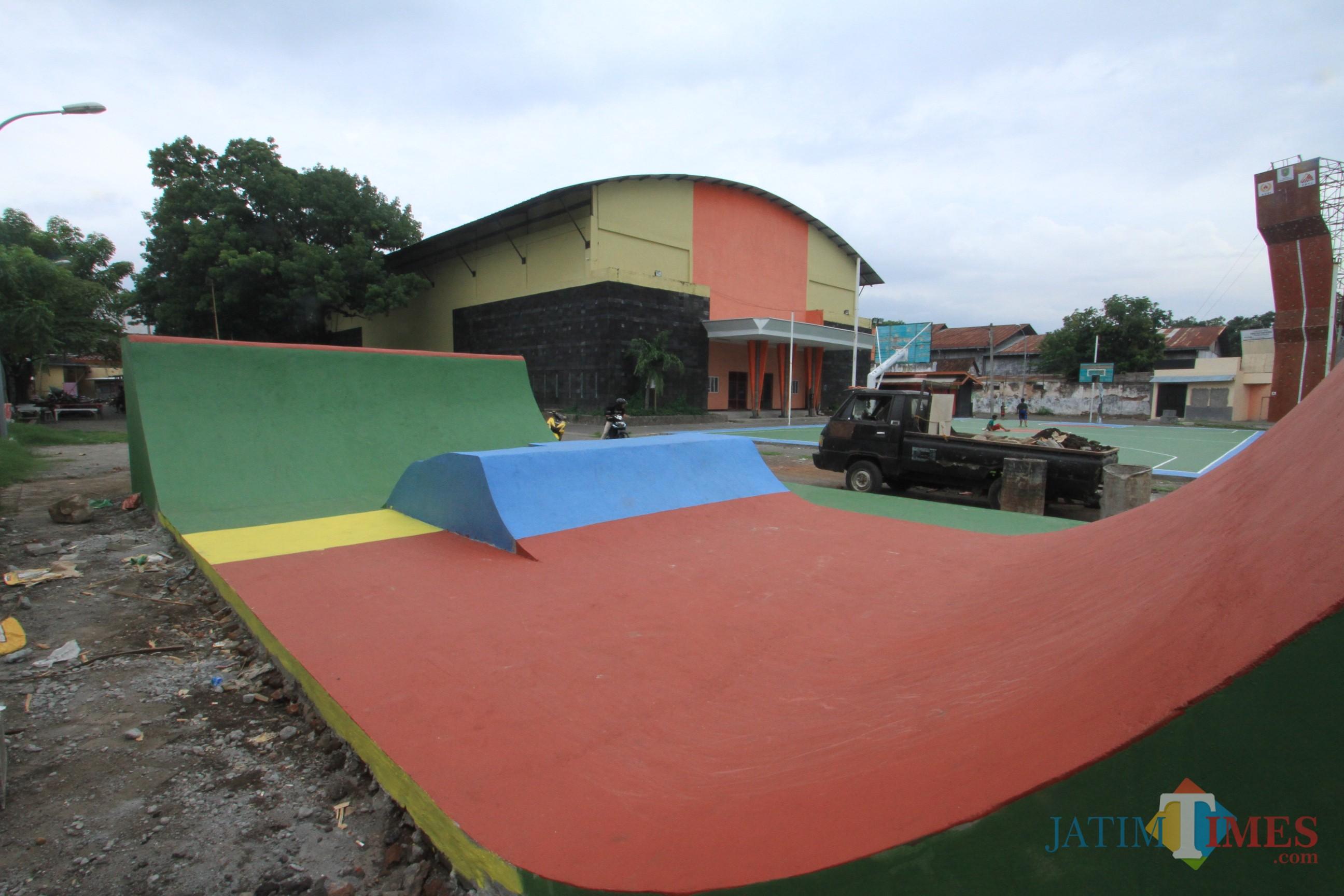 Inilah Skatepark yang dikeluhkan komunitas skateboard Kota Probolinggo (Agus Salam/Jatim TIMES)