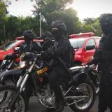 Dua Regu Polisi Bersenjata Laras Panjang Amankan Pergantian Tahun di Kota Batu