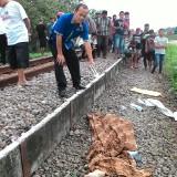Petugas saat tiba di TKP kecelakaan Kereta api di Rejotangan. / Foto : Dokpol / Tulungagung TIMES