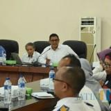 Walikota Kediri Abdullah Abu Bakar saat memberikan keterangan press rilis  terkait inflasi. (ist)
