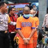 Komplotan pencuri kendaraan sepeda motor dibekuk Polisi. (Foto: B. Setioko/JatimTIMES)