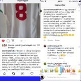 Postingan lelang jersey mantan pemain Persekabpas.