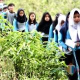 Pelajar saat menyusuri hutan di Kota Batu. (Foto: istimewa)