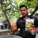 Mufid Rahardja menunjukkan produk olahan Kampung Jambu Karangsono.(Foto : Team BlitarTIMES)