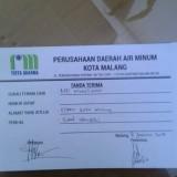 Tanda terima somasi dari warga Mangliawan melalui BPD kepada PDAM Kota Malang (Ist)