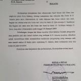 Surat edaran pemberitahuan pelaksanaan sistem satu arah di Jl. Jakarta (Istimewa).