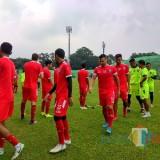 Pemain Arema FC ketika menjalani latihan perdana di Stadion Gajayana (Hendra Saputra)