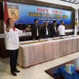 Acara pembuka raker pengurus Forki Kota Malang. (istimewa)