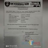 Surat keterangan lulus tes  bea siswa ke Cina.