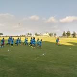 Tim Arema FC ketika latihan pada musim 2018 lalu. (Hendra Saputra)
