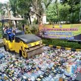 Ilustrasi pemusnahan miras di Polres Malang, Kabupaten Malang (Foto : Dokumen MalangTIMES)