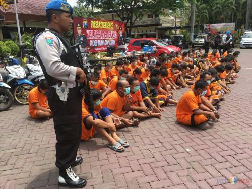 Ilustrasi ratusan tersangka pencurian yang diamankan Polres Malang, Kabupaten Malang (Foto : Dokumen MalangTIMES)