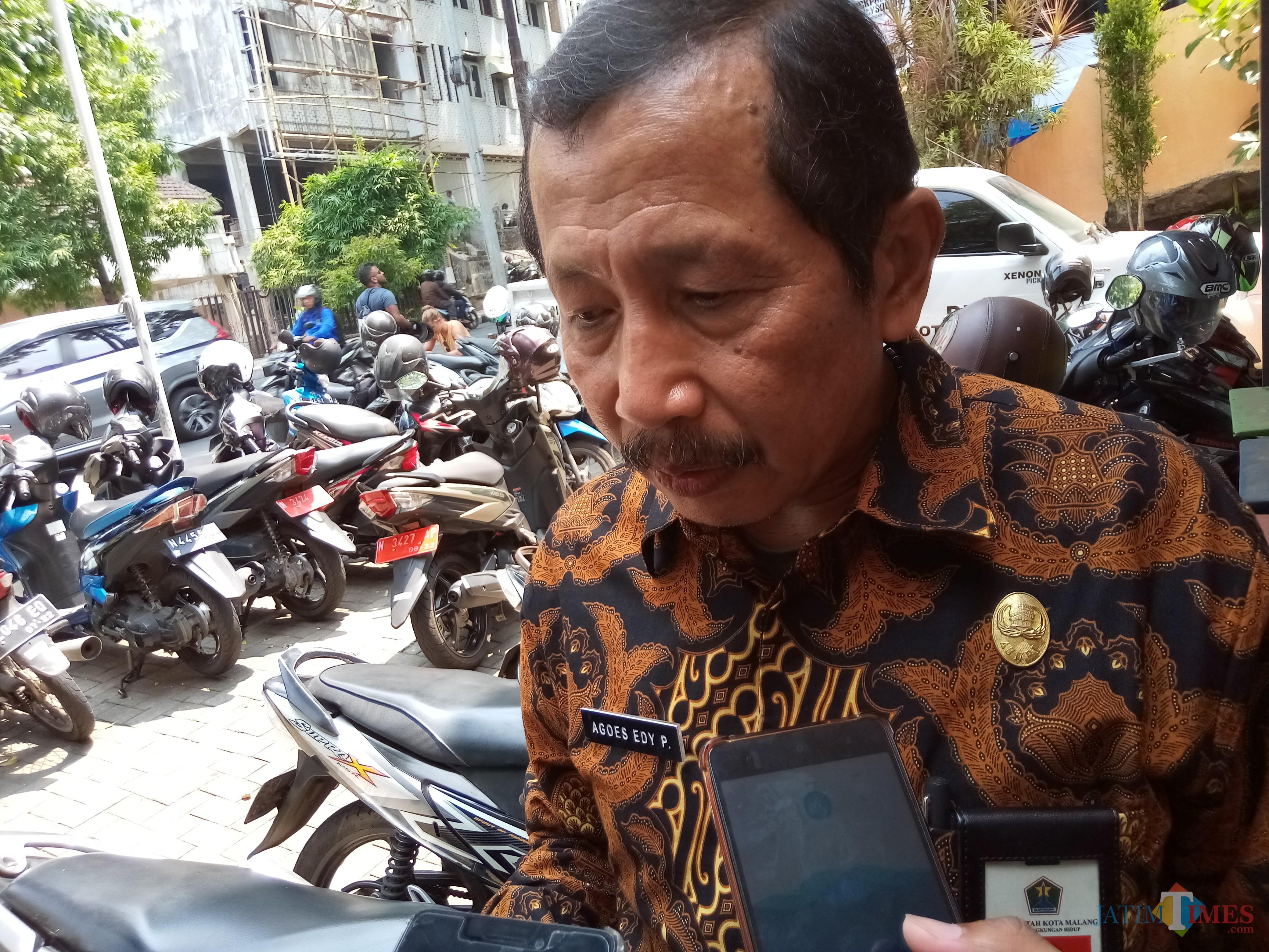 Kepala DLH Kota Malang Agoes Edy Poetranto (Anggara Sudiongko/MalangTIMES)