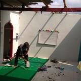 Salah satu masjid yang rusak akibat angin puting beliung.  (foto : Joko Pramono /Jatimtimes)