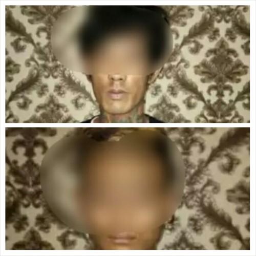Dua pelaku pengedar ganja yang berhasil ditangkap polisi Polres Malang Kota (Satreskoba)