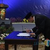 Kepala Perwakilan Bank Indonesia (KPwBI) Malang Azka Subhan Aminurridho saat serah terima jabatan di Hotel Harris, Malang. (Foto: Dokumen MalangTIMES)