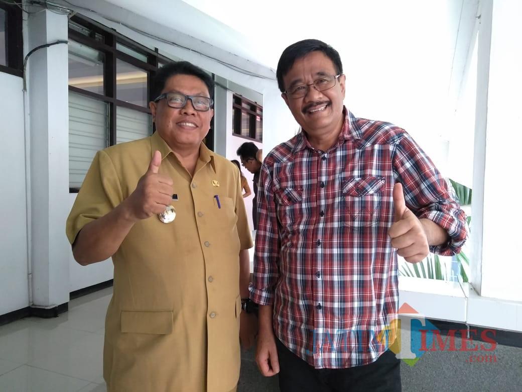 Wakil Wali Kota  Blitar Santoso dan Djarot Syaiful Hidayat.(Foto : Team BlitarTIMES)