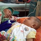 Salah satu bayi yang tertular DBD dirawat di RSUD dr Iskak. (foto : Joko Pramono/Jatimtimes)