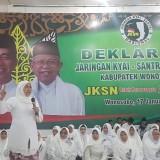 Gubernur Jatim terpilih Khofifah Indar  Parawansa saat deklarasi Jaringan Kiai Santri Nasional di Wonosobo. (Foto : Istimewa)