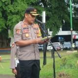 Kapolres Malang Kota AKBP Asfuri saat memimpin apel gabungan Polri, TNI dan Pemkot Malang. (Foto: Dokumen MalangTIMES)