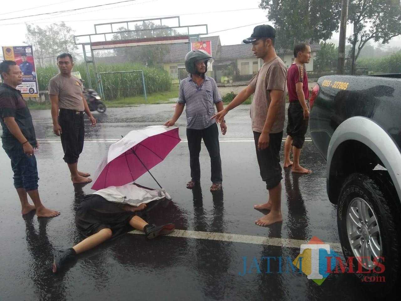 Satu korban yang diketahui bernama Sukma meninggal dunia di TKP / Foto : Dokpol / Tulungagung TIMES