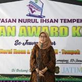 Wakil Bupati Lumajang Indah Amperawati membuka Ihsan Award V. (Foto: Pawitra/JatimTIMES)