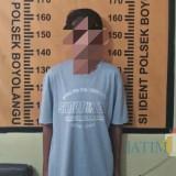 Sebut saja Luwak (initial) salah satu dari tiga bocah yang melakukan aksi pencurian di sekolah (Foto : Dokpol / TulungagungTIMES)