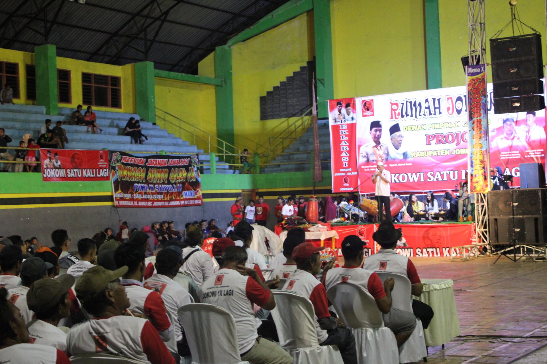 Suasana deklarasi DPC Projo Kabupaten Jombang untuk pemenangan Jokowi-Ma