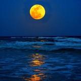 Ilustrasi Supermoon yang akan meningkatkan naiknya air laut nanti malam (Ist)