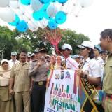 illenial Road Safety Festival di SMAN 1 Kota Blitar.(Foto : Team BlitarTIMES)