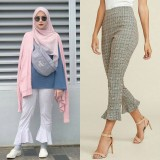 Zaskia Adya Mecca mengenakan celana ruffle (Foto: ist)