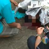 Korban dengan kondisi kepala pecah setelah terjatuh dari terop ketinggian 6 meter. / Foto : Netizen / Tulungagung TIMES