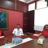 (Dari kiri ke kanan) Kabag Humas Pemkot Blitar Supartono, Bambang Arjuno,  dan Wawali Kota Blitar Santoso.(Foto : Team BlitarTIMES)