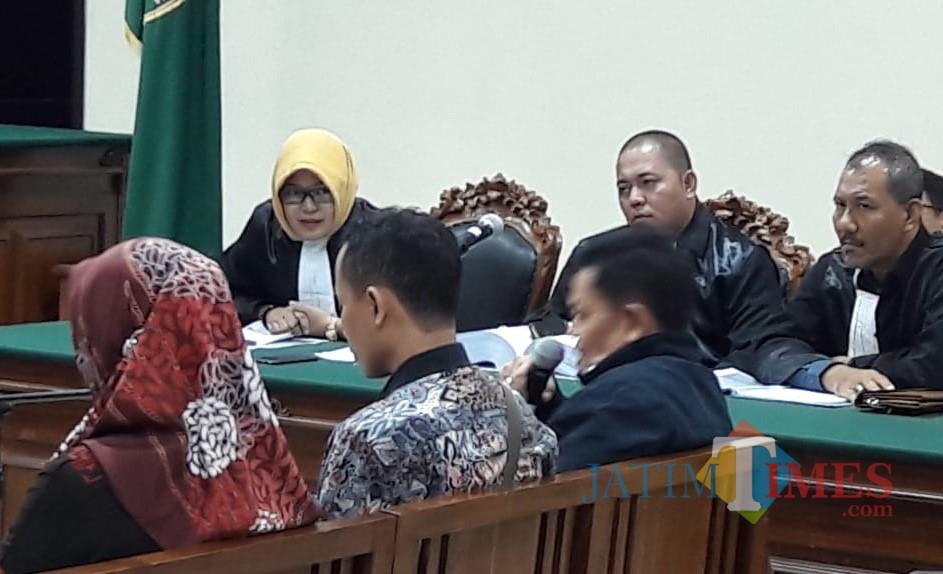Kepala BLP Kota Pasuruan, Nyoman Swasti saat menjadi saksi.