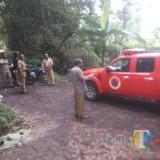 Mobil BPBD ketika cek lokasi longsor 2018