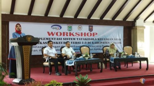 Workshop Evaluasi Implementasi Sistem Tatakelola Keuangan Desa Dengan Sistem Aplikasi Keuangan Desa (Siskeudes) Versi 2.0 yang berlangsung di Pendopo Agung Kabupaten Malang, Rabu (30/1/2019) (Pipit Anggraeni/MalangTIMES)