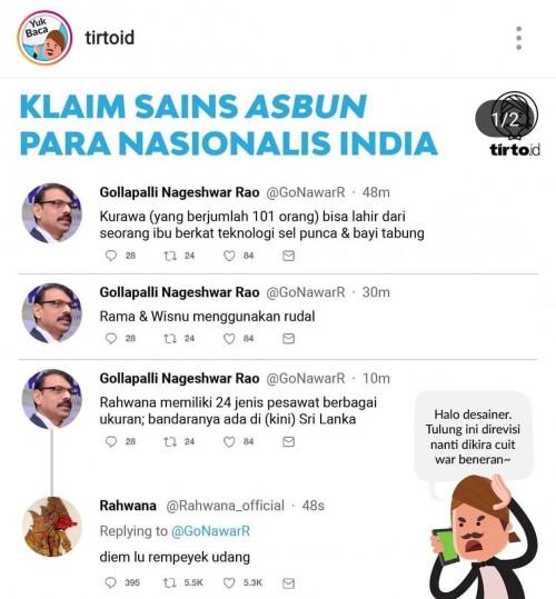Screenshot akun Instagram tirto terkait konten yang membuat warganet protes