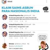 """Saat Tirto.Id """"Klaim Sains Asbun Nasionalis India"""", Warganet : Hal Riskan Dan Menyulut SARA"""
