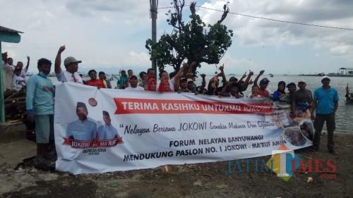 Para nelayan yang tergabung dalam Forum Nelayan Milenial Muncar.