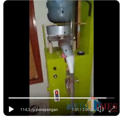 Mesin kemas bagi industri rumahan dari limbah sampah hasil @nautika85 yang mandeg karena kendala anggaran (screenshot video @nautika85)