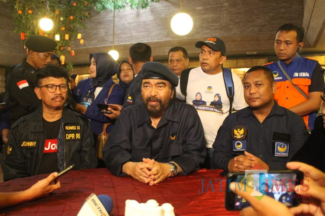 ketua Umum Partai Nasdem, Surya Paloh (foto : Yoppi / JatimTIMES)