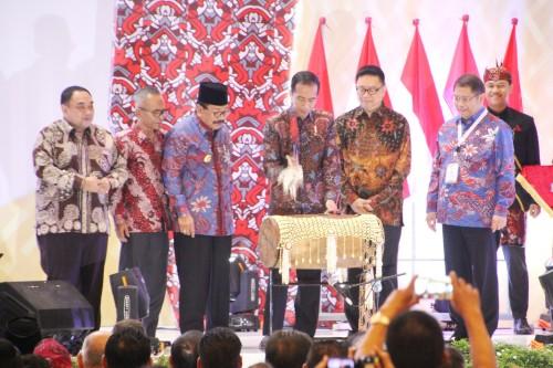 Presiden RI Membuka Acara Resmi Pada Acara Puncak Peringatan Hari Pers Nasional 2019 Di GrandCity SBY