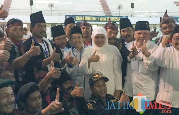 Santri dan ulama di Malang Raya deklarasi dukung pasangan Jokowi-Ma