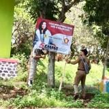 464 Alat Peraga Kampanye Melanggar di Kota Batu