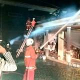 Dua Kios Gedung Kesenian Kota Batu Terbakar