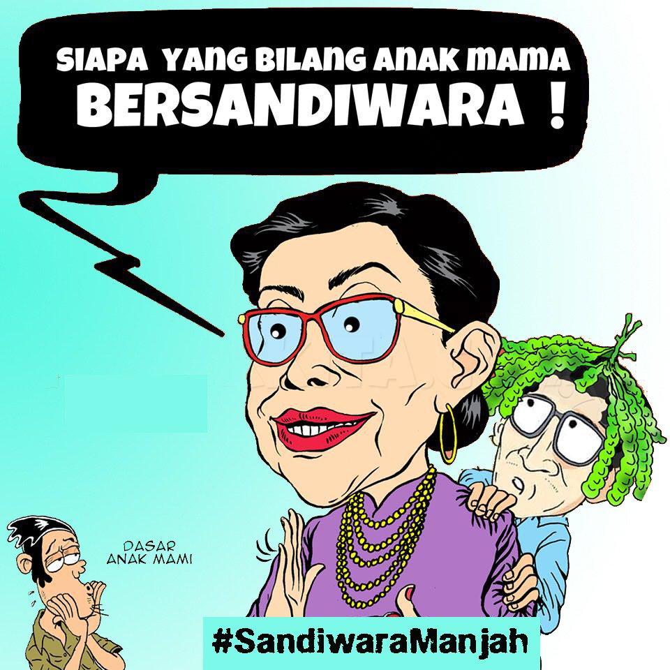 Karikatur #SandiwaraManjah yang menjadi trending topik Twitter (@EllaZefa)