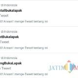 Screenshot trending topik twiter tentang boikot dan dukungan terhadap Bukalapak