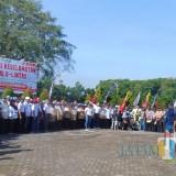 Deklarasi keselamatan berlalulintas di Kabupaten Lumajang (Foto : Moch. R. Abdul Fatah / JatimTIMES)