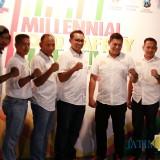 Enterpreneur Expo dan Cangkrukan Millenial Polresta Kediri bersama Dodit. (Foto: B. Setioko/JatimTIMES)